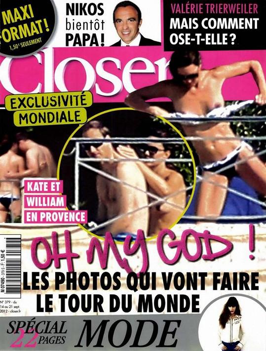 Francouzský magazín Closer neváhal otisknout polonahou vévodkyni.