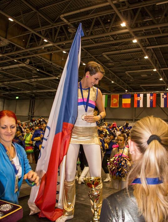 Kratochvílová se umístila se svým týmem na druhém místě na Mistrovství Evropy mažoretek v Brně.