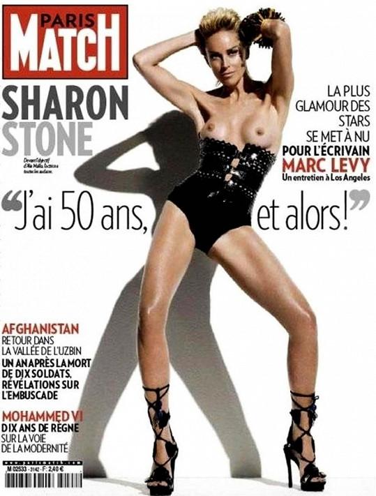 Sharon Stone na obálce pět let starého vydání časopisu Paris Match