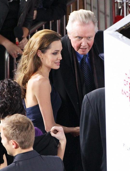 Jon Voight se svou dcerou Angelinou.