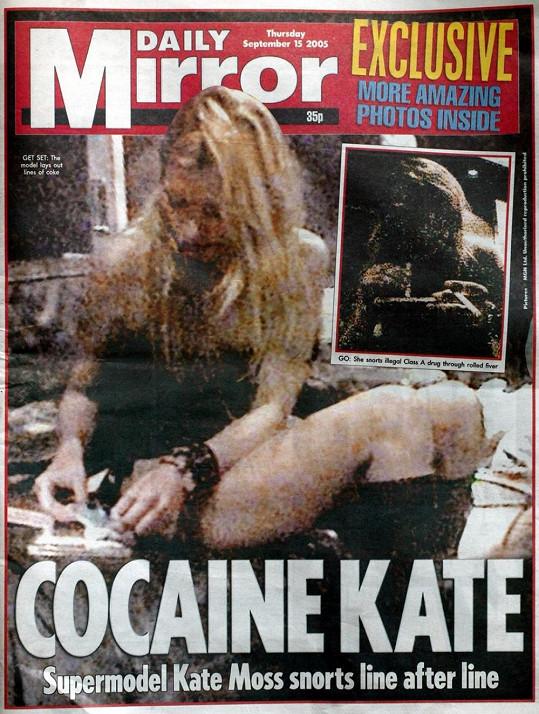 Kokainová Kate, stálo na legendární titulce deníku Daily Mirror.