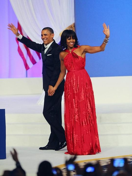 Krásná Michelle Obama téměř zastínila svého manžela.