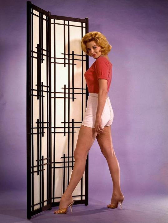 Herečka Angie Dickinson v roce 1960 podpořila Johnovu kampaň.