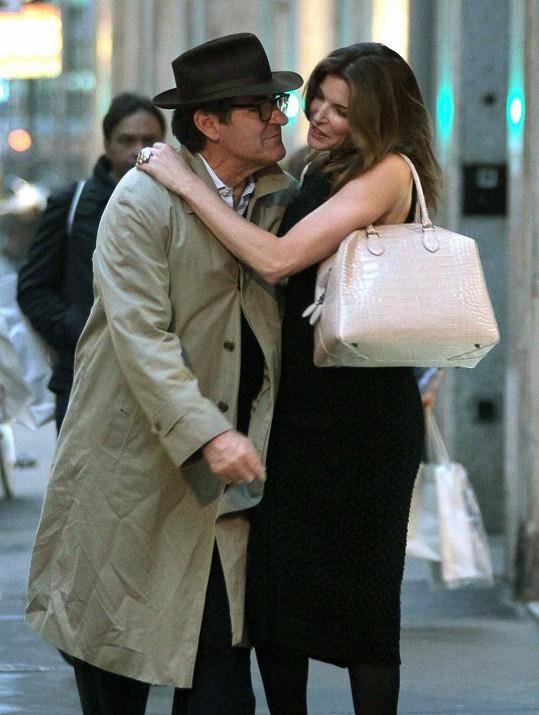 Stephanie s manželem v Miláně