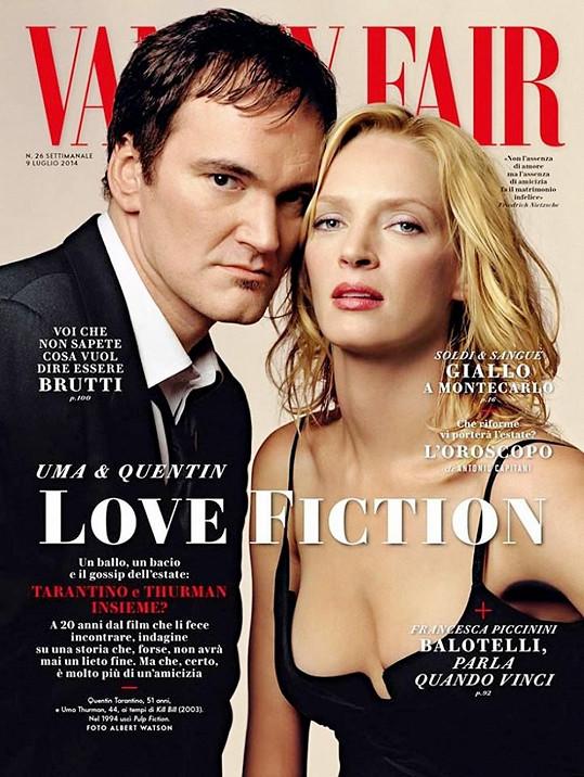Tarantino a Thurman zapózovali pro magazín Vanity Fair.
