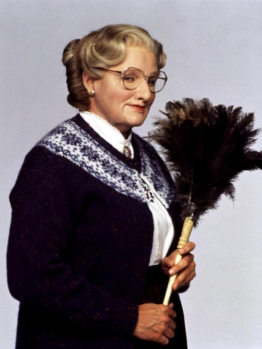 Robin Williams jako táta v sukni ve stejnojmenném snímku z roku 1993