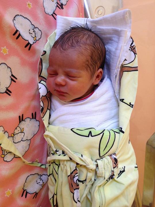 Nikolas dva dny po narození.