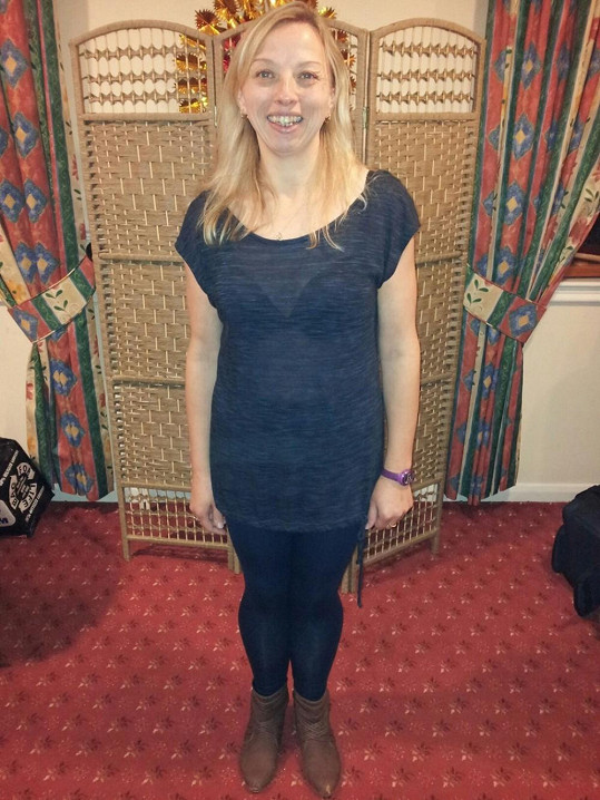 Tracey Burton poté, co zhubla o více než 30 kilo.