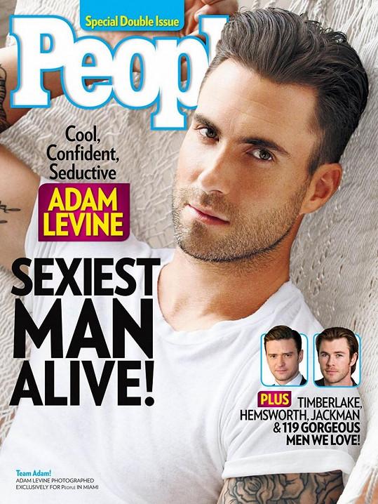 Adam Levine je podle časopisu People nejvíc sexy mužem pro letošní rok.