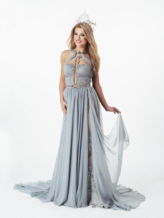 Česká Miss Earth 2016 Kristýna Kubíčková v šatech od Blanky Matragi
