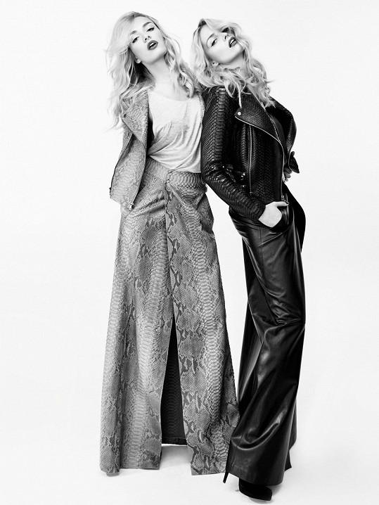 Taťána Kuchařová a Greta Slezáková ve společné kampani