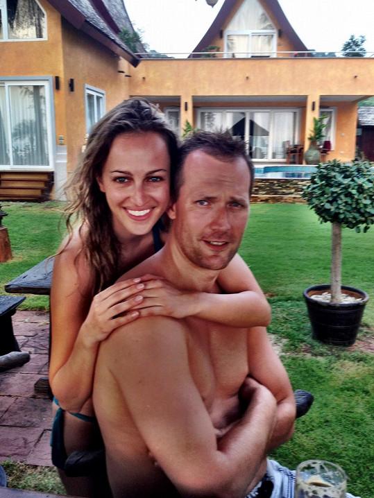 Renata Langmannová s přítelem Ondřejem.
