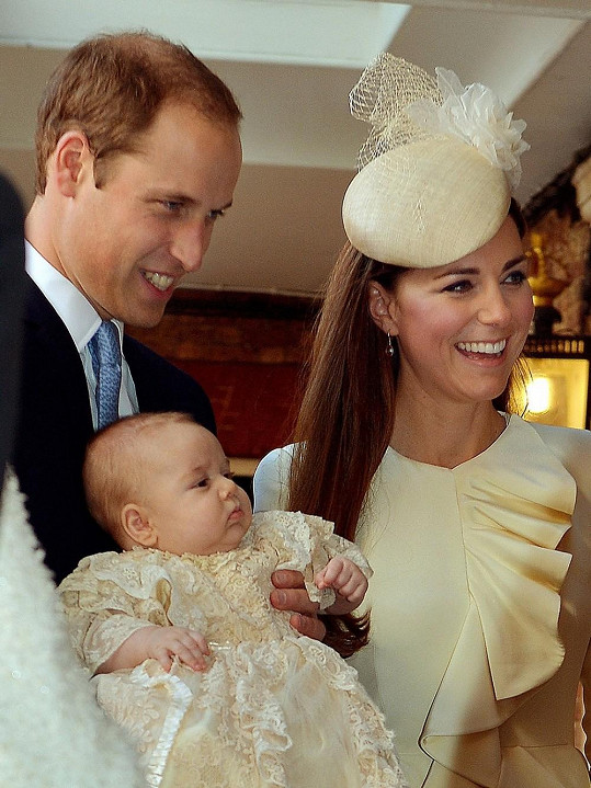 William a Kate na křtinách malého George