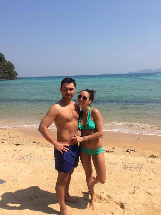 Veronika s manželem Biserem u moře