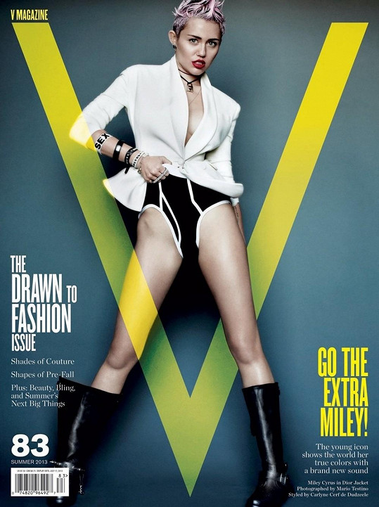 Miley Cyrus pro V Magazine.