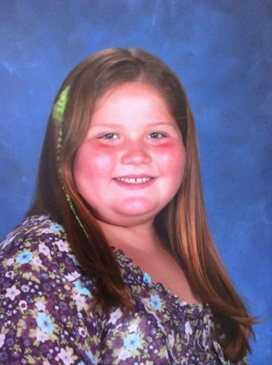 Breanna v době, kdy vážila 84 kilogramů.