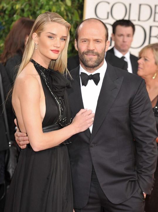 Jason Statham s přítelkyní Rosie Huntington-Whiteley