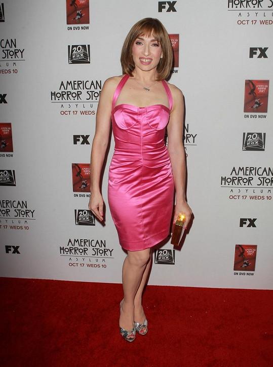 Naomi Grossman na premiérovém promítání seriálu American Horror Story.