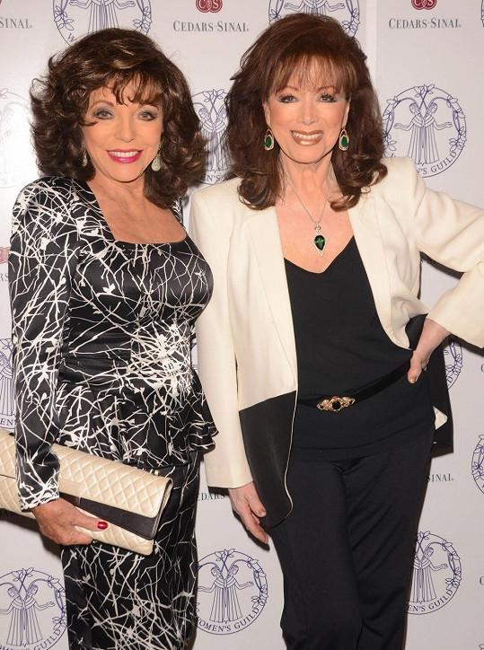 Herečka Joan Collins se sestrou spisovatelkou