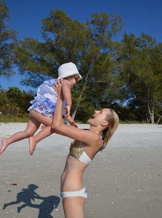 Markéta Divišová si s dcerou denně hrála na pláži.
