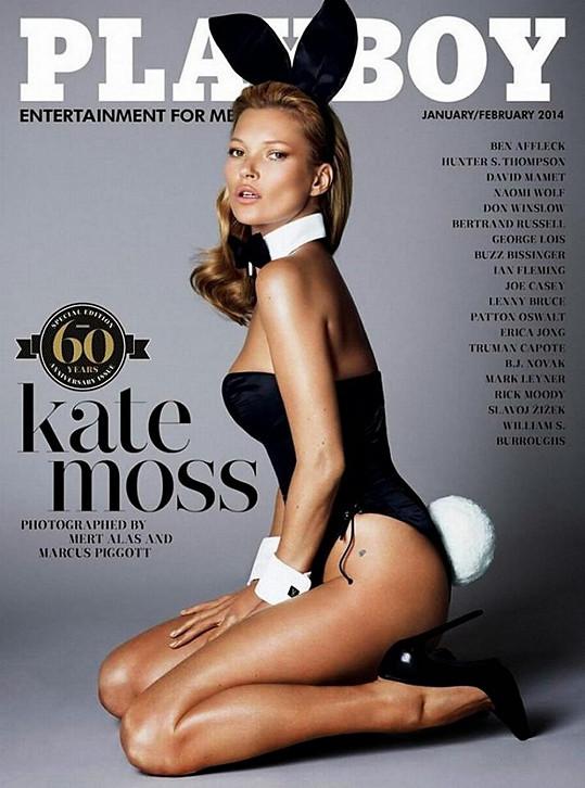 Moss se dostala na speciální výroční číslo Playboye k jeho 60. narozeninám.