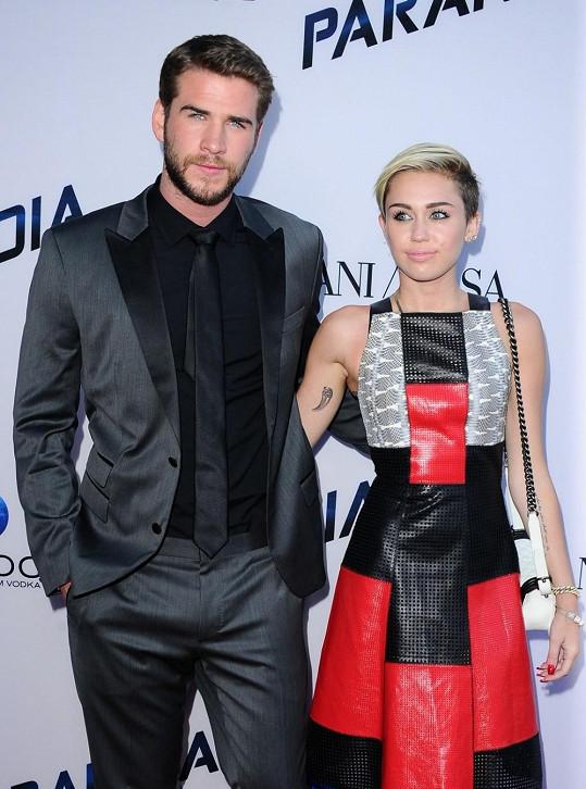 Bývalí snoubenci Liam Hemsworth a Miley Cyrus