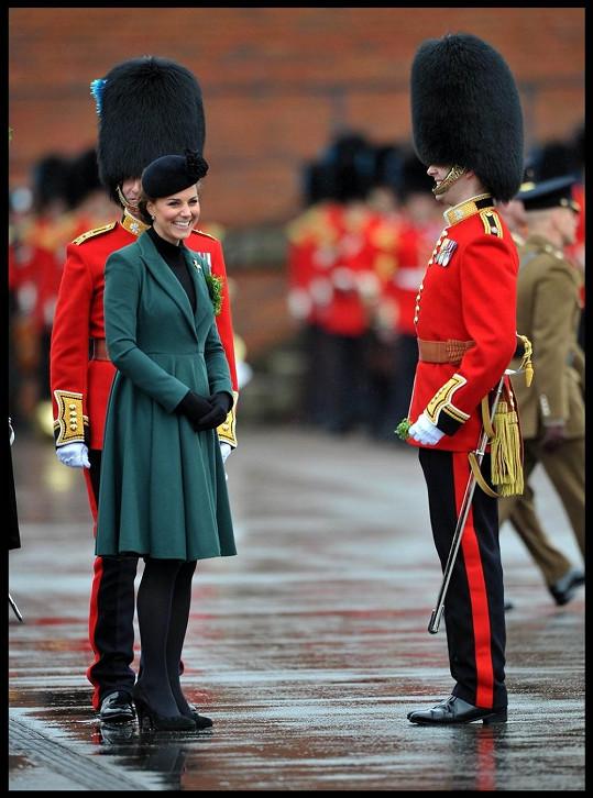 Sympatická Kate se jako vždy usmívala na všechny strany.