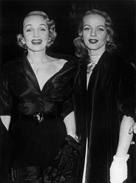 Marlene Dietrich a Maria Riva na sklonku let padesátých...