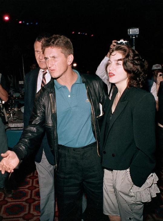 Madonna a Sean Penn v roce 1988