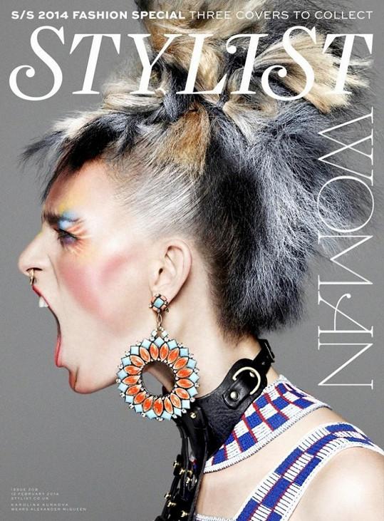 Na titulní straně časopisu Stylist se v březnu Kurková objeví rovnou dvakrát.