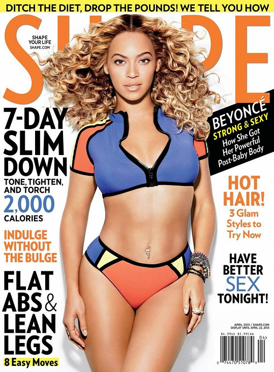 Zpěvačka je zase na vrcholu. Nedávno se objevila na obálce magazínu Shape.