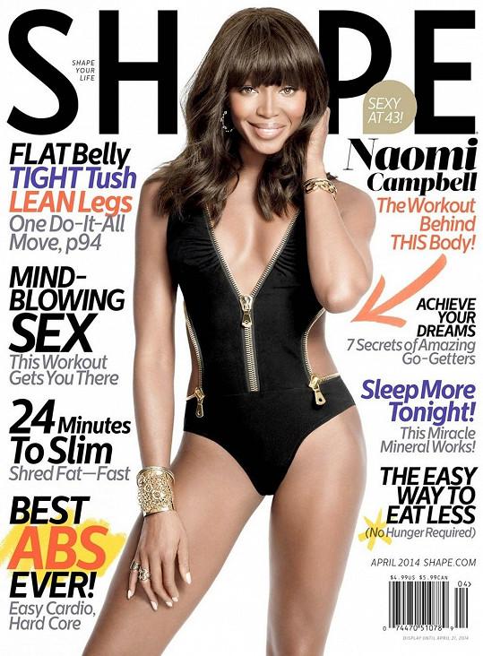Campbell na titulní straně magazínu Shape