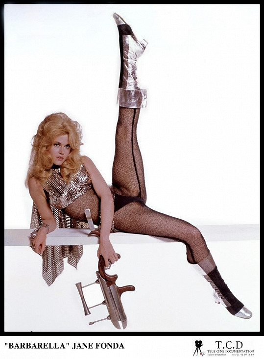 Jane Fonda jako Barbarella