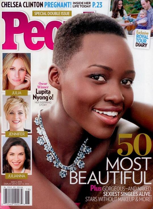 Lupita Nyong'o se stala podle magazínu People nejkrásnější ženou světa.