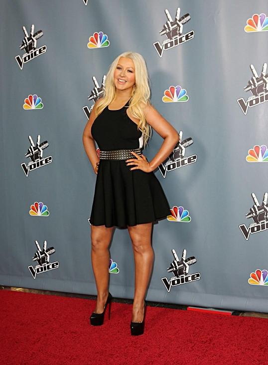 Christina Aguilera se účastnila večírku k zahájení další řady pěvecké soutěže The Voice.