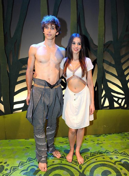 Michaela Doubravová a Roman Tomeš v muzikálu Mauglí.