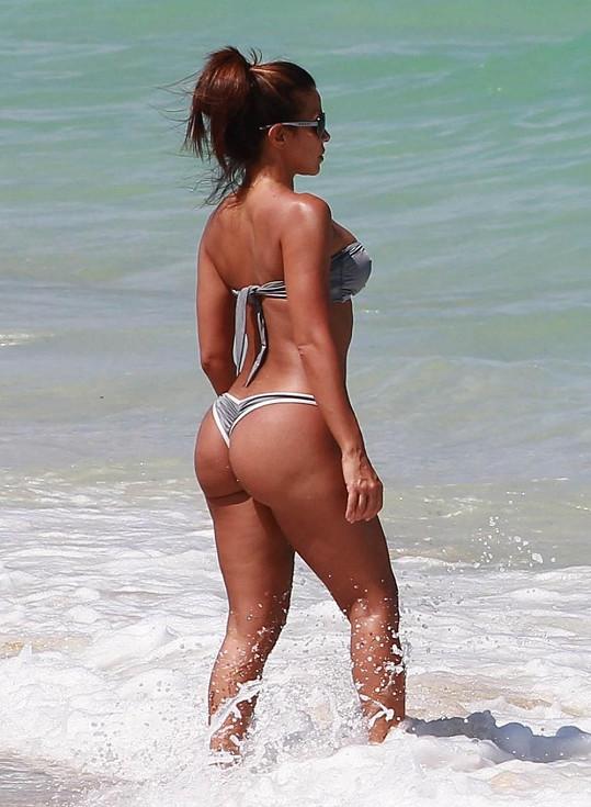 Kubánská modelka předvedla svou postavu na Floridě.