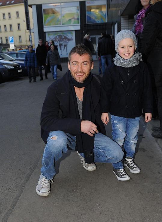 Bořek Slezáček se synem Koljou