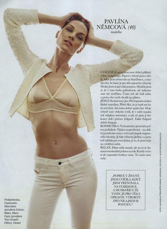 Němcová je i ve čtyřiceti nádherná žena.