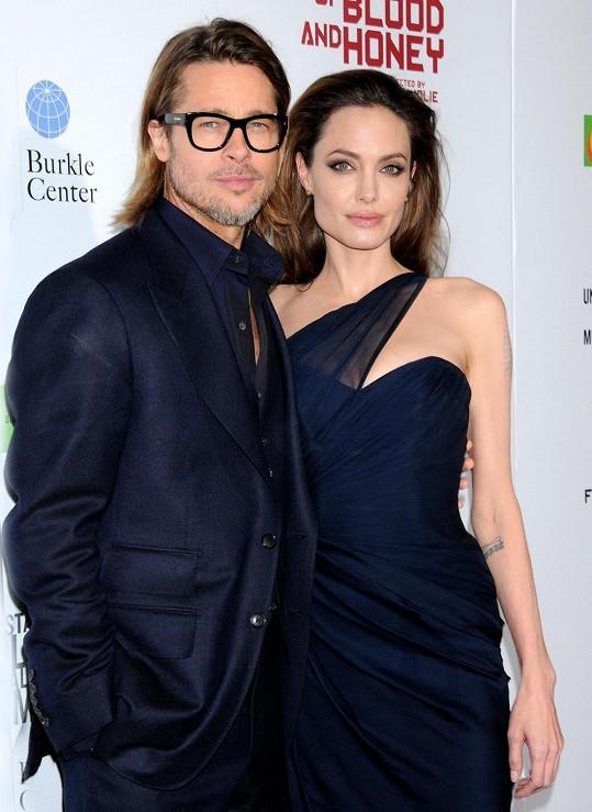 Angelina Jolie s Bradem Pittem.