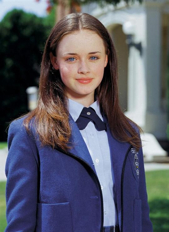 Alexis jako bystrá studentka Rory Gilmorová.
