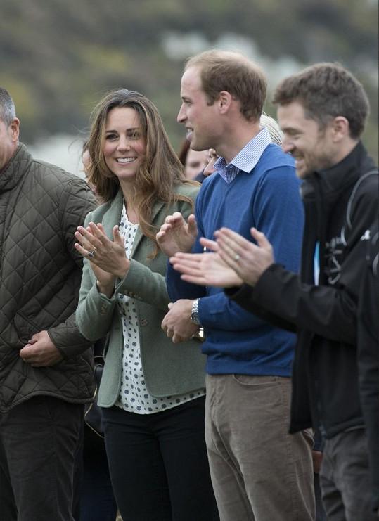 William a Catherine během jejich první účasti na oficiální události