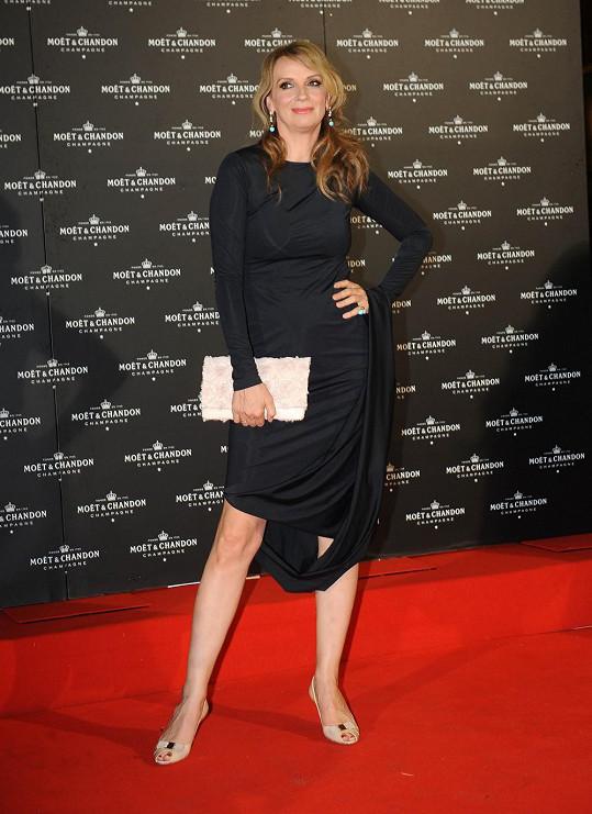 Ivana Chýlková dorazila na festival také bez parnera Jana Krause.