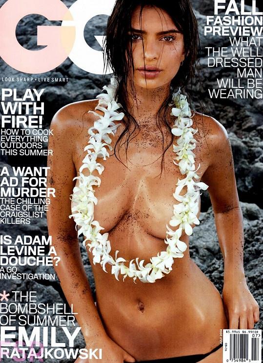 Emily Ratajkowski na titulu nového vydání magazínu GQ
