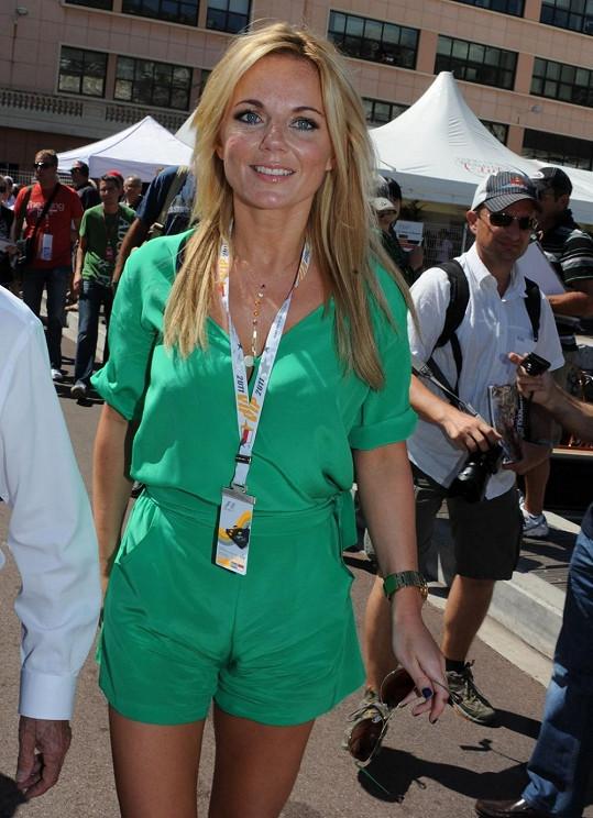 Geri Halliwell na závodech F1