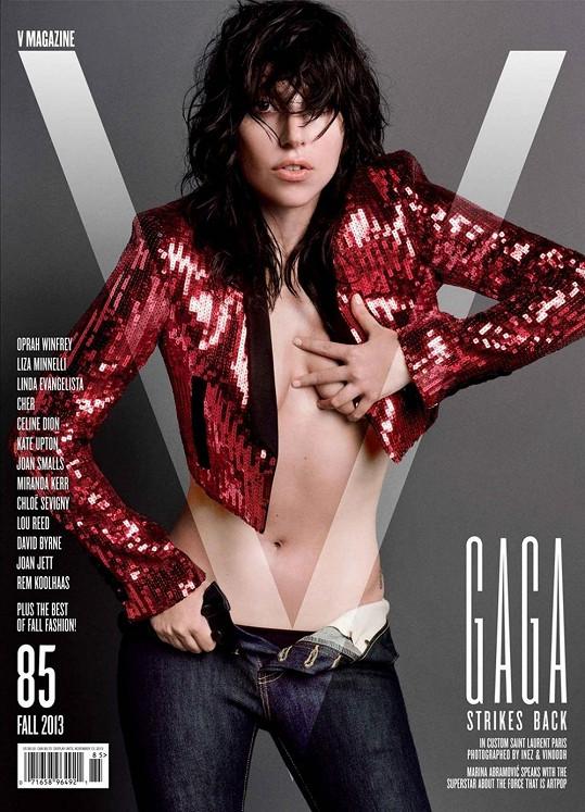 Lady Gaga na obálce nového čísla V Magazine