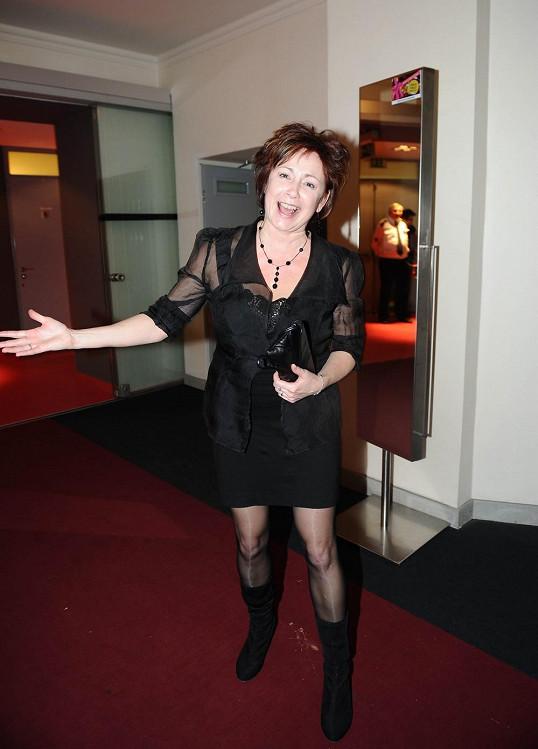 Svobodová měla na loňské párty jednu z nejkratších sukní.