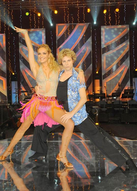Jan Onder loni tančil s naší jedinou Miss World Taťánou Kuchařovou.