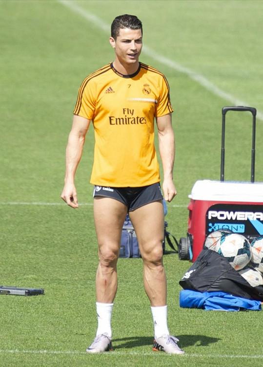 Cristiano Ronaldo na tréninku
