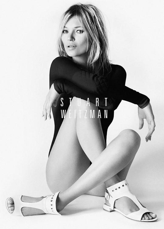 Kate Moss pro značku Stuart Weitzman.